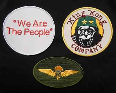 Taxi Driver Deniro Travis Bickle King Kong Company Halloween Iron On 3 Patch Set