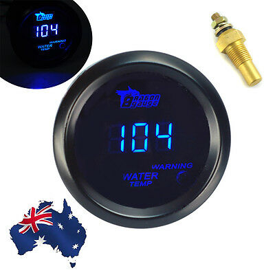 "New Car BLUE DIGITAL LED WATER TEMP TEMPERATURE Fahrenheit GAUGE 2"" 52mm AU"