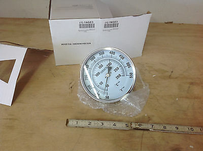 "Grainger Industrial Grade SS 1NGE3 Bimetal Thermometer 5"" Dial 50 to 550F. NEW"