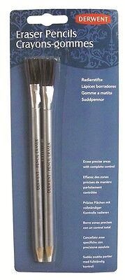Derwent Eraser Pencil With Brush - blister pack of 2