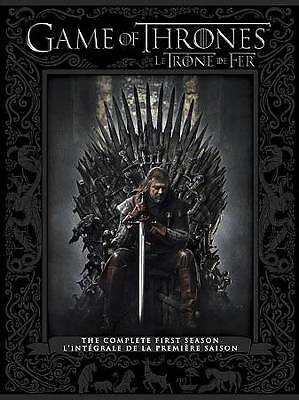Game of Thrones: The Complete First Season (DVD, 2012, 5-Disc Set) LIKE NEW!