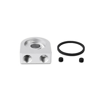Mishimoto Universal Oil Cooler Take Off Sandwich Plate - Silver