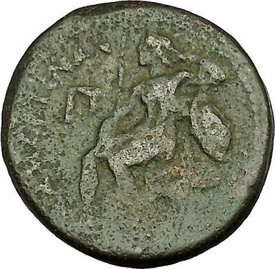 MESSSANA in SICILY under MAMERTINI 220BC Warrior Apollo Lyre Greek Coin i40133