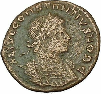 CONSTANTINE II Jr Constantine the Great son Roman Coin Glory of Army  i40374