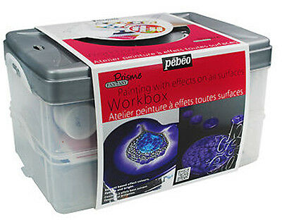 Pebeo Fantasy Prisme Multi Surface Craft Paint Set - Atelier Workbox Kit