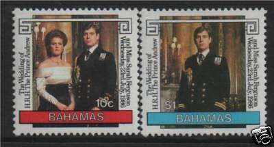 Bahamas 1986 Royal Wedding SG 756/7 MNH