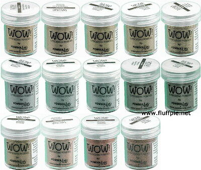 WOW! METALLIC EMBOSSING POWDER - COLOUR/GRADE CHOICES  - free UK p&p on extras