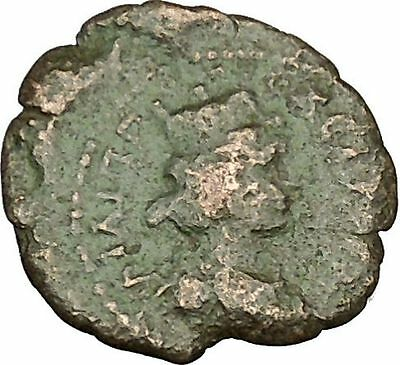 SEPTIMIUS SEVERUS Ancient Roman Coin Tyche Fortuna Luck Cult   i40404