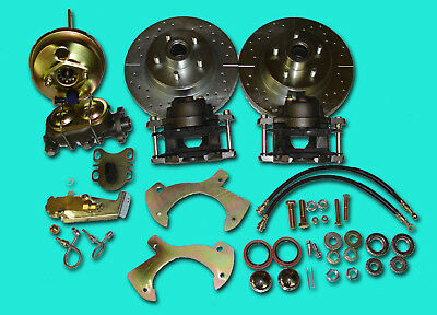 57 58 59 60 FORD FULLSIZE FRONT DISC BRAKE CONVERSION drilled slotted