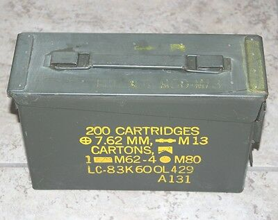 "EMPTY AMMO CANS 10""x7""x3 1/2"" USED"