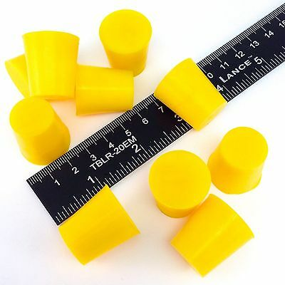 "(25) 3/4"" x 15/16"" #3 High Temp Silicone Rubber Powder Coating Plugs Cerakote"