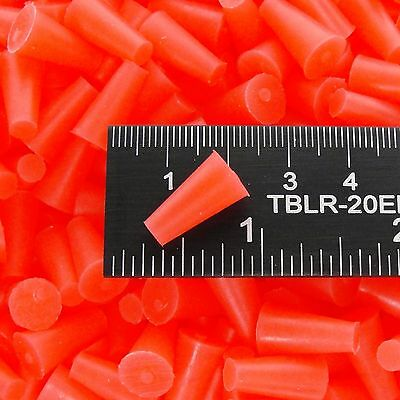 "(250) 3/16"" x 11/32"" High Temp Silicone Rubber Powder Coating Plugs Cerakote"