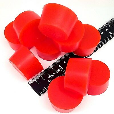 "(10) 1 1/2"" x 1 3/4"" #9 High Temp Silicone Rubber Plugs Powder Coating Paint"