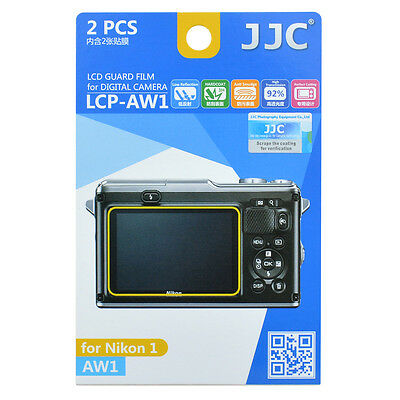 JJC LCP-AW1 LCD Guard Film Camera Screen Display Protector for Nikon AW1 DSLR