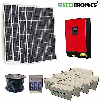 Off Grid Solar Kit - 19kWh AGM Bank - 4kW Inverter/Charger MPPT - 2250W Solar PV