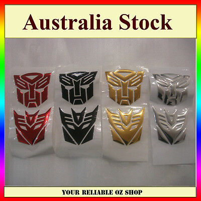 Transformer Decepticon + Autobot Car Truck Motorcycle Sticker Emblem Badge Decal