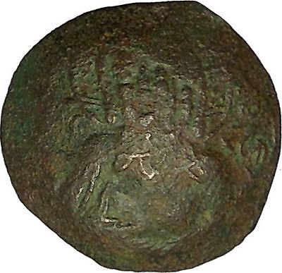 ALEXIUS III 1195AD Saint Constantine Jesus Christ Ancient Byzantine Coin i40320