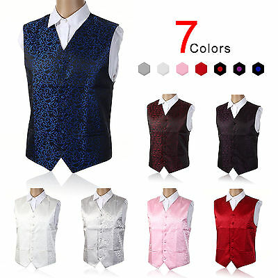 "New Mens Top Swirl Wedding Waistcoat Chest Available S-5XL UK Size 36""-50"""