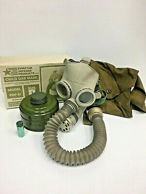 (2) TWO GAS MASKs PDF-D CHILD's MASK NEW  BOTH SIZE LARGE!