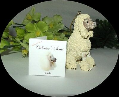 ~White POODLE COLLECTOR'S EDITION new in the box ornament statue