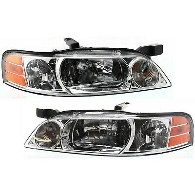 Headlight Set For 2000-2001 Nissan Altima Left and Right With Bulb 2Pc
