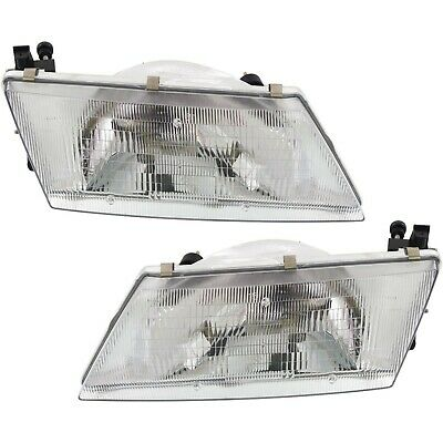 For Nissan 200SX Sentra Headlights Headlamps Pair Set Left LH & Right RH