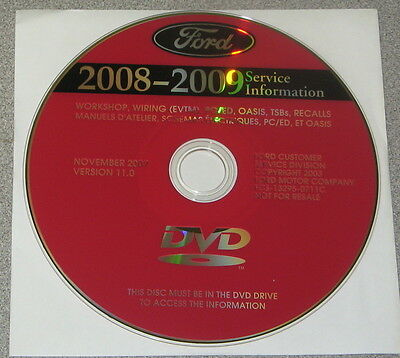2008 Ford Expedition Lincoln Navigator Service Manual Set DVD