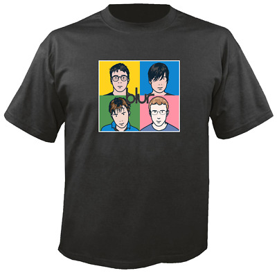 Tee Shirt New Adult Unisex  Brit-Pop Indie band BLUR on quality cotton t-shirt