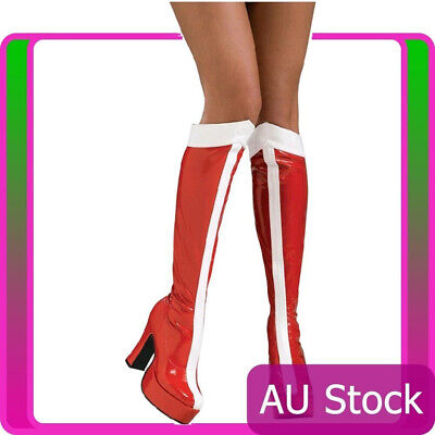 Rubie's Womens Wonder Woman Red White Superhero Red Boots Knee High Shoes
