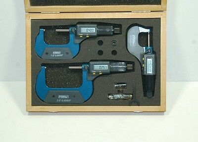 "Fowler 54-850-103 Electronic Micrometer Set 0-3"" BLOW OUT PRICE!"
