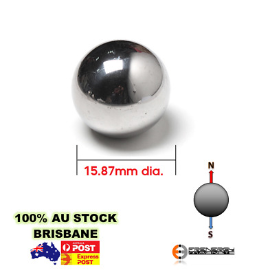 2X Spheres Balls Neo Rare Earth Magnets 15.87mm dia. N38
