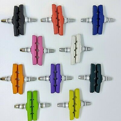 BARGAIN Bicycle BRAKE BLOCKS Pads New Shoe Colour Bike V-Brake Allen Key 1 pair