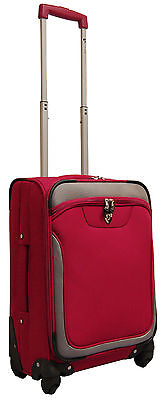 "Heys USA EZ-4 20"" 4 Wheeled Lightweight Spinner Carry On Luggage - Red"