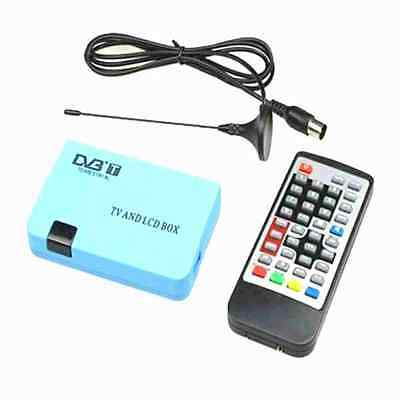 Digital TV Box LCD VGA/AV Tuner DVB-T FreeView Receiver UK STOCK