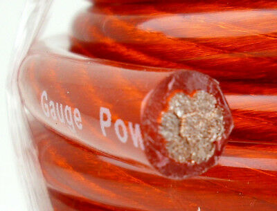 2 Awg Gauge 17 Feet Red Power Ground Amp Wire 17 Ft