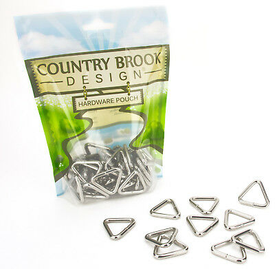 10 - Country Brook Design™ 1 Inch Welded Triangle Rings