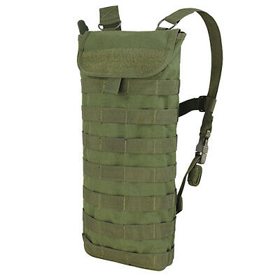 CONDOR HCB Tactical MOLLE PALS Hydration Carrier w/ 2.5L H2O Bladder OD Green