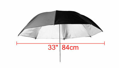 "33"" 84cm Black Silver Reflective Photographic Studio umbrella Reflector AU Local"