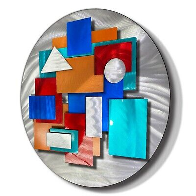 Statements2000 Modern 3D Metal Wall Accent Sculpture Geometric Decor Jon Allen