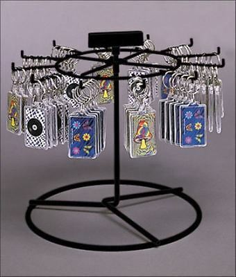 For Sale 12 Peg Counter Key Chain & Small Product Spinner Display Rack (Black)