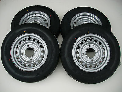 "4 X 165 R13 C 8Ply 4 Stud 5.5"" Pcd Trailer Wheels And Tyres/ifor Williams/wessex"