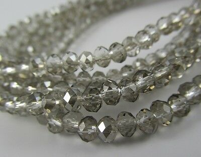 Rondelle faceted glass black diamond beads crystal loose jewerly 4mm 6mm 8mm C23