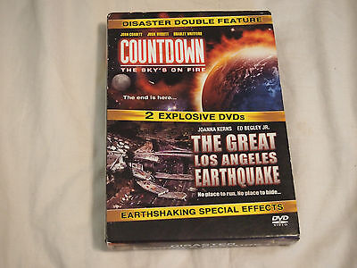 Disaster Double Feature DVD, 2 Disc Countdown Sky's On Fire/ Great LA Earthquake