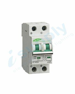 Circuit Breaker 20A 2 Pole – MCB DC 500V (Non polarised)
