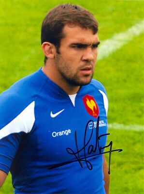 David Marty, France rugby union, USA Perpignan, signed 8x6 inch photo. COA.