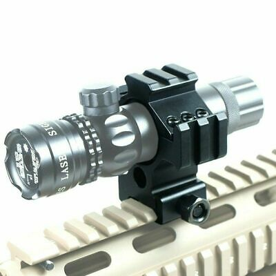 "Laser / Light / Scope Ring Mount w/ Tri-rail & 30mm to 1"" Reducer Insert"