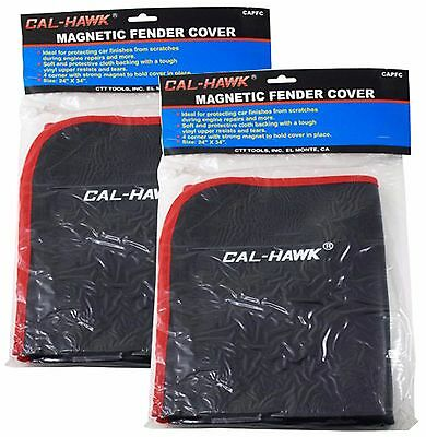 "(Qty 2) Heavy Duty Magnetic Fender Cover 24"" x 35"" Protector 4 Pc Corner Magnets"