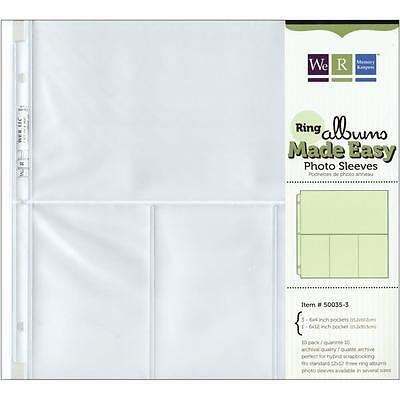 Project Life WeR Memory Keepers Page Protectors ~ 50035