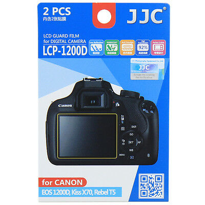 JJC LCP-1200D LCD Film Camera Screen Display Protector for CANON EOS 1200D T5