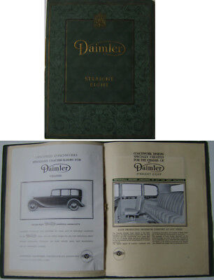 Daimler Straight Eight 8 Series V 4.5 1938-39 Original luxury Sales Brochure